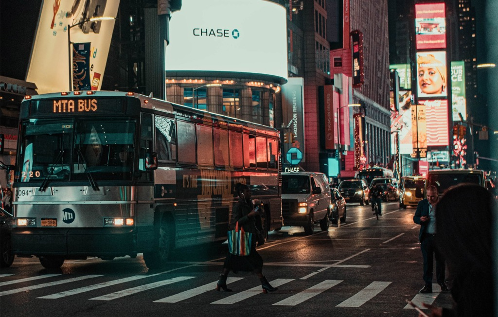 New York Night street