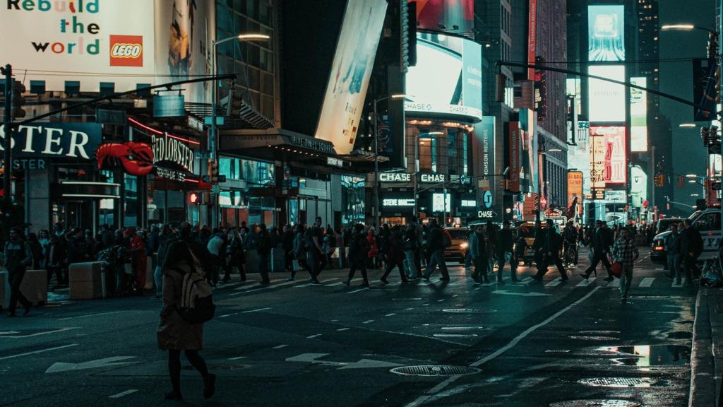New York blue night