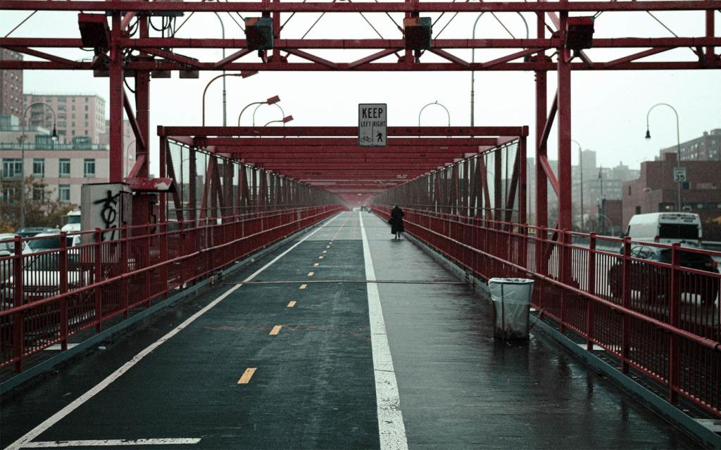 Red rain bridge
